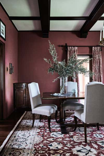 Traditional Dining Room. North Shore Spanish Mission by Studio Kate Pty Ltd.