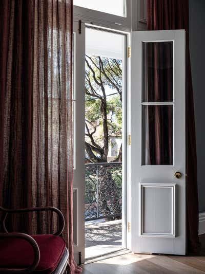 Eclectic Bedroom. Marrickville Terrace by Baldwin & Bagnall.