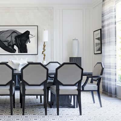 Transitional Dining Room. Neoclassical Revisited by Benjamin Johnston Design.