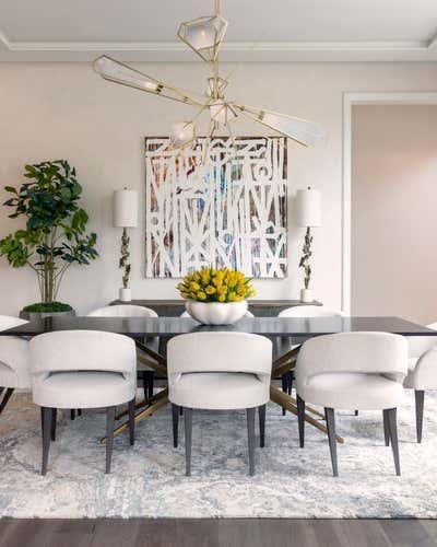 Transitional Dining Room. Modern Mix Master by Benjamin Johnston Design.