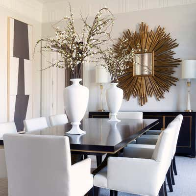 Transitional Dining Room. Townhouse Tour by Benjamin Johnston Design.