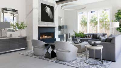 Transitional Living Room. Townhouse Tour by Benjamin Johnston Design.