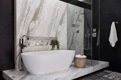 Western Bathroom. The Hamptons in Studio City by 22 INTERIORS.