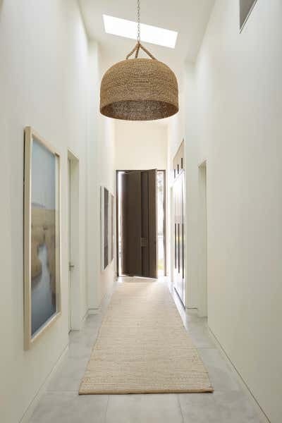 Western Entry and Hall. The Hamptons in Studio City by 22 INTERIORS.