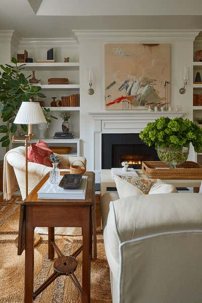 Transitional Living Room. West End Residence by Jeremy D. Clark, LLC..