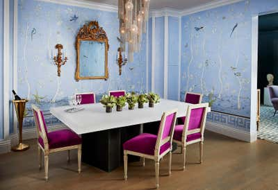 Contemporary Dining Room. Pacific Heights Jewel by McCaffrey Design Group.