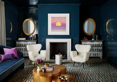 Contemporary Living Room. Pacific Heights Jewel by McCaffrey Design Group.