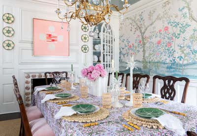 British Colonial Dining Room. Project Pemberton by Kristen Nix Interiors.