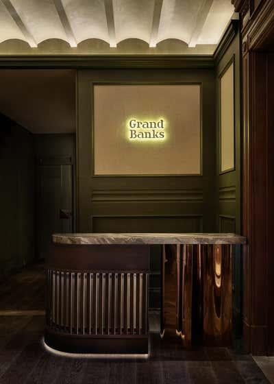 Art Deco Restaurant Entry and Hall. Grand Banks by Chris Shao Studio LLC.