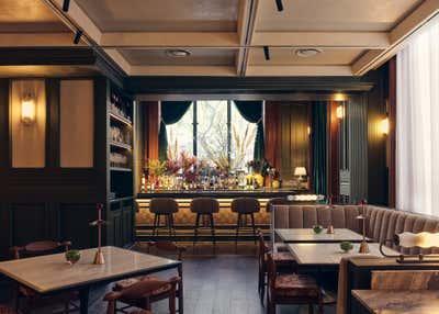 Art Deco Dining Room. Grand Banks by Chris Shao Studio LLC.