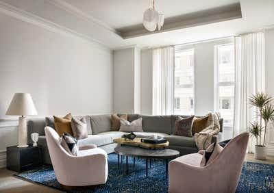 Mid-Century Modern Living Room. Tribeca Residence by Olivia Jane Design & Interiors.