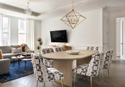 Mid-Century Modern Dining Room. Tribeca Residence by Olivia Jane Design & Interiors.