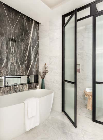 Mid-Century Modern Bathroom. Tribeca Residence by Olivia Jane Design & Interiors.