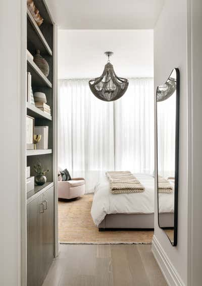 Mid-Century Modern Bedroom. Tribeca Residence by Olivia Jane Design & Interiors.