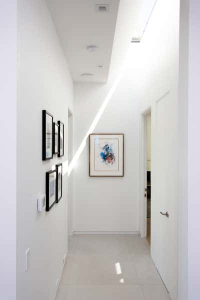 Minimalist Entry and Hall. Hollywood Hills Residence by Olivia Jane Design & Interiors.