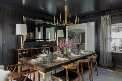 Mid-Century Modern Dining Room. MCM Montclair by Laura Saltzmann Interior Design.