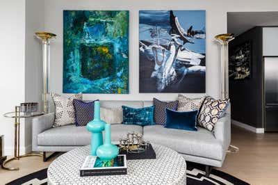 Coastal Living Room. ARO  by Laura Saltzmann Interior Design.