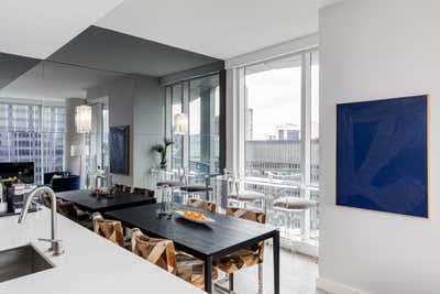 Coastal Dining Room. ARO  by Laura Saltzmann Interior Design.