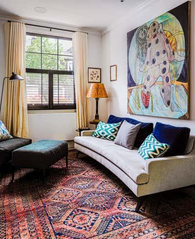 Maximalist Living Room. Brook Green Cottage by Balzar London.