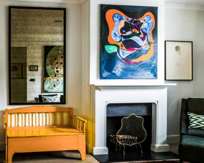 Eclectic Living Room. Brook Green Cottage by Balzar London.