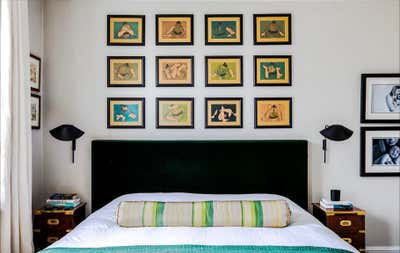 Contemporary Bedroom. Brook Green Cottage by Balzar London.