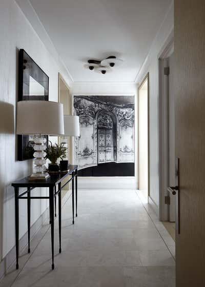 Art Deco Entry and Hall. 200 Amsterdam Model Residence by Bennett Leifer Interiors.