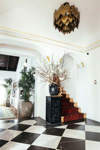 Art Deco Entry and Hall. Westwood Home by Kevin Klein Design.