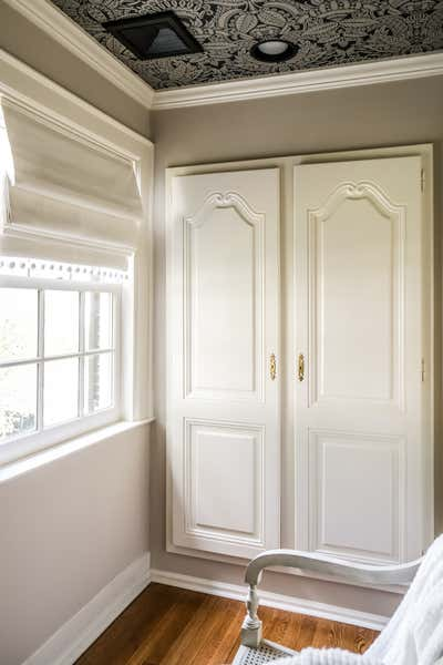 English Country Storage Room and Closet. Westchester Colonial by Duck Egg Blue LLC.