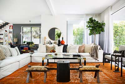 Bachelor Pad Living Room. West Hollywood  by Peti Lau Inc.
