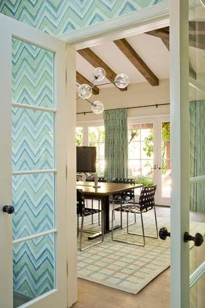 Mediterranean Meeting Room. Santa Monica Guest House by Christine Markatos Design.