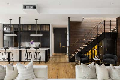 Industrial Family Home Open Plan. A Penthouse in Soho by Ychelle Interior Design.
