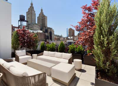 Organic Patio and Deck. Townhouse in New York City by Ychelle Interior Design.