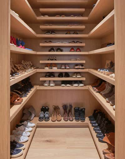 Contemporary Storage Room and Closet. Greenwich, CT by Melanie Morris Interiors.