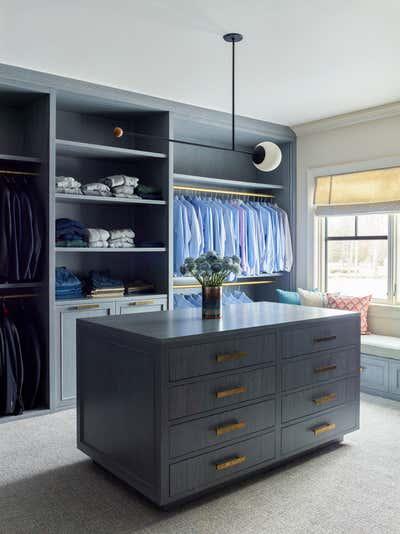 Contemporary Storage Room and Closet. Maximalist Westchester Interior Design  by Kati Curtis Design.