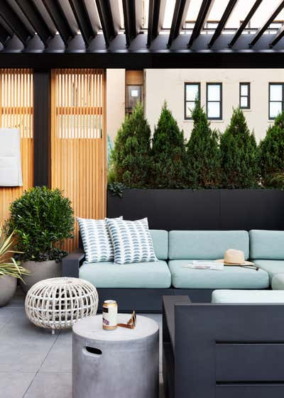 Modern Patio and Deck. Brooklyn Heights Townhouse by Lucy Harris Studio.