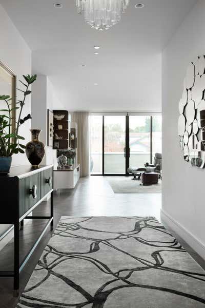 Art Deco Apartment Entry and Hall. Aubins  by Sara Levitas Interior Design.