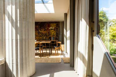 Bohemian Lobby and Reception. Rooftop Home, Marylebone by Retrouvius.