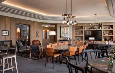 Art Deco Hotel Open Plan. Cypress Lounge by Cravotta Interiors.