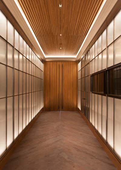 Art Deco Hotel Entry and Hall. Cypress Lounge by Cravotta Interiors.