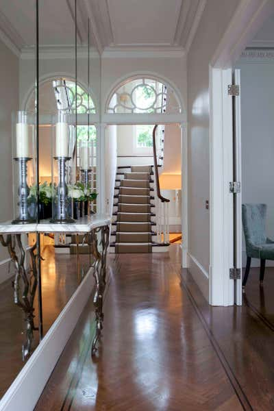 Art Deco Family Home Entry and Hall. Chester Street by Siobhan Loates Design LTD.