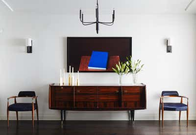 Art Deco Apartment Entry and Hall. Beaux Art Bachelor Pad by Marshall Morgan Erb Design Inc.