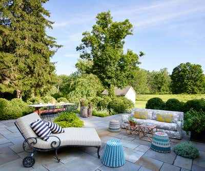 Country Patio and Deck. Hudson Valley Residence by Hollymount, Ltd..