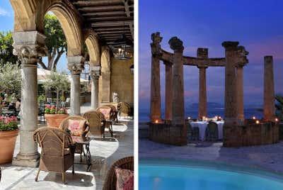 Mediterranean Patio and Deck. Villa Igiea  by Nicholas Haslam LTD.