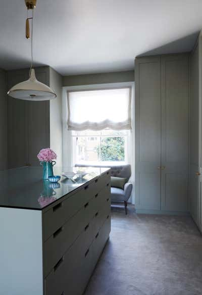 Contemporary Storage Room and Closet. Holland Park by Tamzin Greenhill.