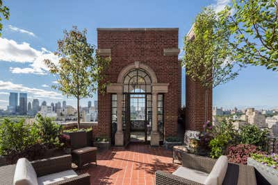 Traditional Patio and Deck. Park Ave. Penthouse by Pavarini Design.