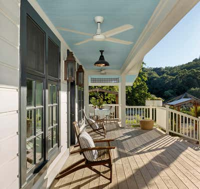 Eclectic Patio and Deck. Chef's Hideaway - Calistoga by JKA Design.