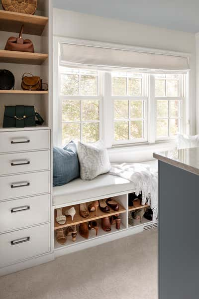 Mid-Century Modern Storage Room and Closet. Walnut Hill Project by Laura Hodges Studio.