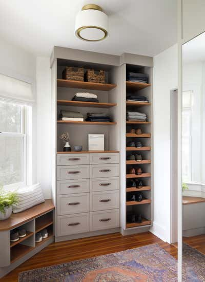 Contemporary Storage Room and Closet. Osbourne Project by Laura Hodges Studio.