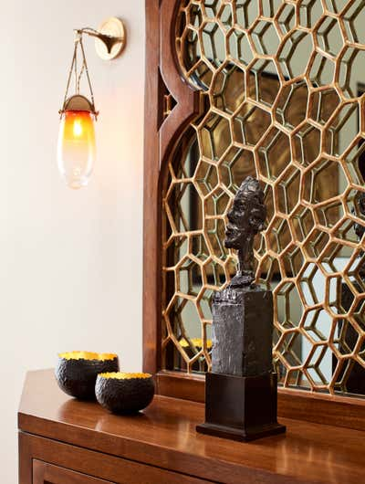 Art Deco Entry and Hall. Piedmont Residence by Fisher Weisman Brugioni.