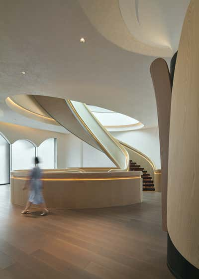 Mixed Use Entry and Hall. Fatansia Sales Center by Chris Shao Studio LLC.